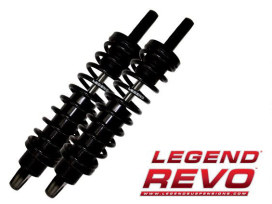 REVO Series, 12in. Rear Shock Absorbers - Black. Fits V-Rod 2007-2017.