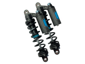 Revo ARC Piggyback Suspension. 14in. Adjustable, Heavy Duty Spring Rate, Rear Shock Absorbers - Black. Fits Dyna 1991-2017.