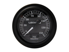 Fairing Gauge - Black Illuminated. Fits Touring Pre 2014.