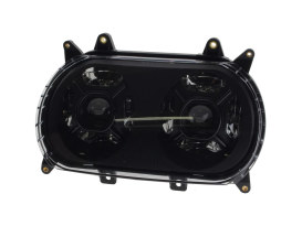 Dual 5-3/4in. Double-Barrel LED HeadLight Insert. Fits Road Glide 2015up.