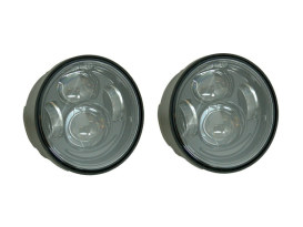 4-1/2in. HeadLight Inserts - Black. Fits FXDF with Dual Headlight.