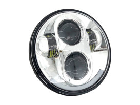 5-3/4in. LED HeadLight - Chrome. Fits H-D & Indian Scout Models with 5-3/4in. Headlight.