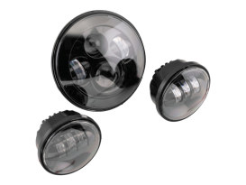 7in. HeadLight & 4.5in. Passing Lamps (2) Insert Bundle - Black. Fits H-D with 7in. Headlights & 4.5in. Passing Lamps.