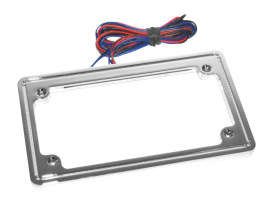 Perfect Plate Light License Plate Frame Chrome