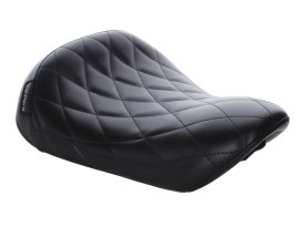 BareBones Solo Seat with Diamond Stitch. Fits Sportster 2004-2006 & Sportster 2010up Models with with 3.3 Gallon Fuel Tank.