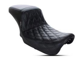 Kickflip Dual Seat with Black Double Diamond Stitch. Fits Dyna 2006-2017.