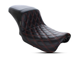 Kickflip Dual Seat with Red Double Diamond Stitch. Fits Dyna 2006-2017.