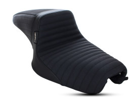 Kickflip Dual Seat with Pleated Gripper Tape. Fits Sportster 2004-2006 & Sportster 2010up Models with either 3.3 or 4.5 Gallon Tank.