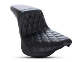 Kickflip Dual Seat with Black Double Diamond Stitch. Fits Softail Slim & Street Bob 2018up & Standard 2020up.