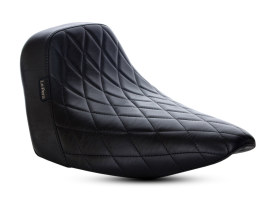 Bare Bones Solo Seat with Black Diamond Stitch. Fits Sport Glide & Low Rider 2018up & Low Rider S 2020up.