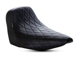 Bare Bones Solo Seat with Black Diamond Stitch. Fits Sport Glide & Low Rider 2018up.
