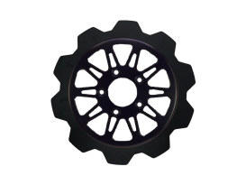 11.8in. Front Omega Crown Disc Rotor - Black Band & Black Carrier. Fits Dyna 2006-2017, Softail 2015up, Sportster 2014up & Some Touring 2008up.