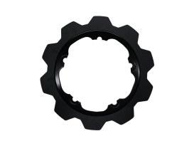 11.8in. Front Crown Disc Rotor - Black Band & Black Carrier. Fits V-Rod & Dyna 2006-2017 Models with OEM Cast Wheel.
