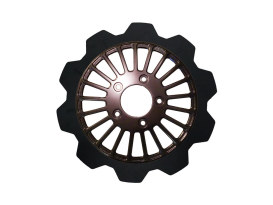 11.8in. Front Breakout Crown Disc Rotor - Black Band & Black Carrier. Fits Dyna 2006-2017, Softail 2015up, Sportster 2014up & Some Touring 2008up.