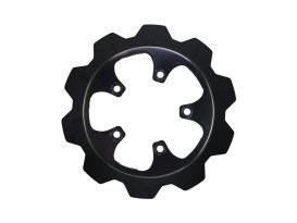 11.8in. Rear Crown Disc Rotor - Black Band & Black Carrier. Fits V-Rod 2006-2017.