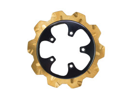 11.8in. Rear Crown Disc Rotor - Gold Band & Black Carrier. Fits V-Rod 2006-2017.
