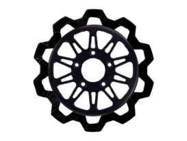 11.5in. Rear Omega Bow-Tie Disc Rotor - Black Band & Black Carrier. Fits Big Twin 2000up & Sportster 2000-2010.