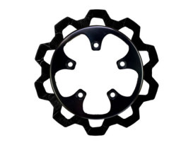 11.8in. Rear Bow-Tie Disc Rotor - Black Band & Black Carrier. Fits V-Rod 2006-2017.