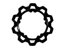 11.8in. Front Bow-Tie Disc Rotor - Black. Fits V-Rod & Dyna 2006-2017 Models with OEM Cast Wheel.