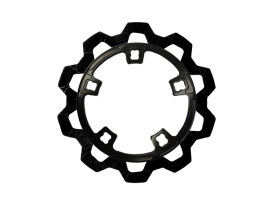 11.8in. Front Bow-Tie Disc Rotor - Black Band & Black Carrier. Fits Most Touring 2014up Models.
