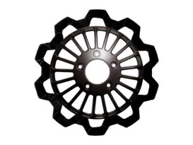 11.8in. Front Breakout Bow-Tie Disc Rotor - Black Band & Black Carrier. Fits Dyna 2006-2017, Softail 2015up, Sportster 2014up & Some Touring 2008up.