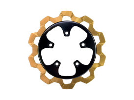 11.8in. Rear Bow-Tie Disc Rotor - Gold Band & Black Carrier. Fits V-Rod 2006-2017.