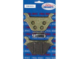 Gold-Plus Brake Pads. Fits Rear on Sportster 1987-1999 & Big Twin 1987-1999.