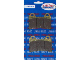 Brake Pads. Fits Rear on Softail 1987-2007 with Performance Machine Integrated Caliper.
