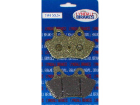 Gold-Plus Brake Pads. Fits Front & Rear on Sportster 2000-2003, Big Twin 2000-2007 & V-Rod 2002-2005.