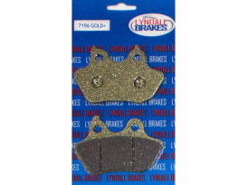 Gold-Plus Brake Pads. Fits Rear on Softail 2006-2007 with 200 OEM Rear Tyre.
