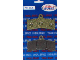 Gold-Plus Brake Pads. Fits Performance Machine 112 x 6B Calipers.