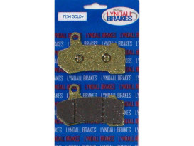 Gold-Plus Brake Pads. Fits Front & Rear on Touring 2008up & V-Rod 2006-2017.