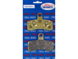 Gold-Plus Brake Pads. Fits Front on Dyna 2008-2017 & Softail 2008-2014.