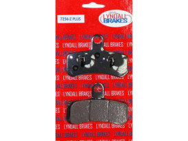 Z-Plus Brake Pads. Fits Front on Dyna 2008-2017 & Softail 2008-2014.