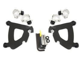 Black Gauntlet Trigger-Lock Mounting Hardware. Fits Sportster XL1200X 2010-2015.