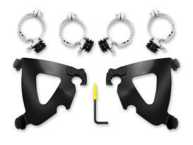 Black Road Warrior Trigger-Lock Mounting Hardware. Fits FX Softail 1984-2015 & Dyna Wide Glide 1993-2005.