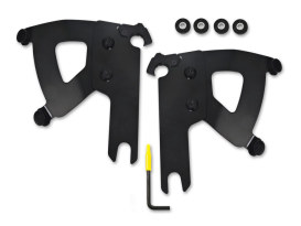 Black Road Warrior Trigger-Lock Mounting Hardware. Fits Road King & Road King Classic 1994up.