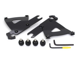 Black Road WarriorRoad Warrior Trigger-Lock Mounting Hardware. Fits FL Softail 1986-2017 With Out Spotlight Bar.