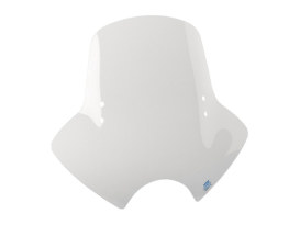 Demon Clear Handlebar Mount Windshield. 18in. High x 21in. Wide.