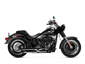 Legacy Gen-X Exhaust - Chrome with Black End Caps. Fits Softail Breakout 2013-2017 & Rocker 2008-2011.