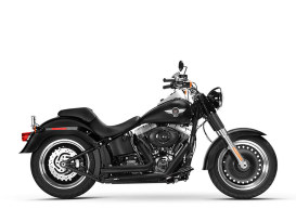 Legacy Classic Exhaust with Black Finish & Black End Caps. Fits Softail Breakout 2013-2017 & Rocker 2008-2011 Models.