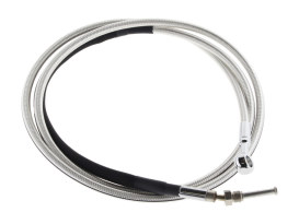 76in. Hydraulic Clutch Line with 10mm x 180 Degree Banjo - Sterling Chromite. Fits Pre 2013 CVO Touring, Dyna, Softail and V-Rod'02up
