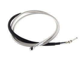 78in. Hydraulic Clutch Line with 10mm x 180 Degree Banjo - Sterling Chromite. Fits Pre 2013 CVO Touring, Dyna, Softail and V-Rod'02up