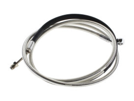 78in. Hydraulic Clutch Line with 10mm x 35 Degree Banjo - Sterling Chromite. Fits Touring & Softail 2013-2016 Models fitted with the Original H-D Hydraulic Clutch.