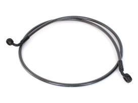 48in. E-Z Align Front Brake Line with 7/16in. x 35 Degree Banjo - Black Pearl.