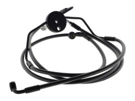 Lower Front Brake Line Assembley with T-Piece - Black Pearl. Fits Touring 2008-2013 with ABS & Dual Front Calipers.