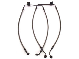 Lower Front Brake Line with T-Piece & Black Pearl Finish. Fits Trikes 2014up Non-ABS Models.