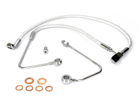 Lower Brake Line - Sterling Chromite. Fits FXS Blackline 2011-2013 & Breakout 2013-2014 Models with Single Front Disc Caliper.