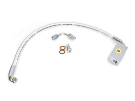 Stock Length Lower Front Brake Line - Sterling Chromite. Fits Softail 2018up with Single Front Disc Caliper.