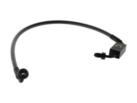 Stock Length Lower Front Brake Line  - Black Pearl. Fits Dyna Switchback 2012-2016 with ABS & Single Front Disc Caliper.